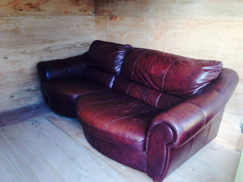 Brown leather sofa in hull east yorkshire gumtree - Laura ashley barcelona ...