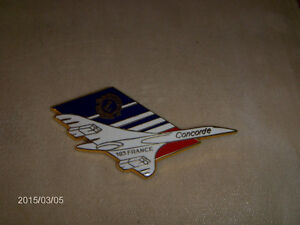 1980'S CONCORDE AIR FRANCE AIRPLANE PINBACK-LION'S CLUB