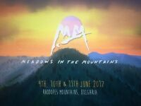 1 x Meadows in the Mountains Festival Ticket 2017
