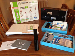 NINTENDO WII with WII FIT PLUS BOARD