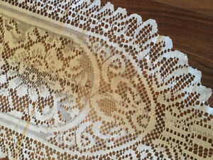 WEDDING DECOR 11 Ivory Lace Table Runners Like New 9 Feet
