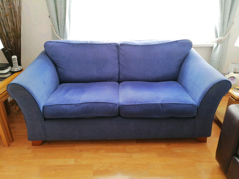 Denim blue m&s sofa   in Hillsborough, County Down   Gumtree