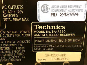 Technics SA-R230 AM/FM Stereo Receiver London Ontario image 6