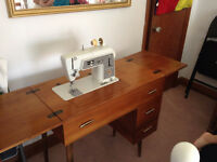 Sewing Machine and table solid wood