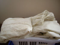Brand new condition curtains BEIGE AND BROWN FULL LENGTH OF BIG