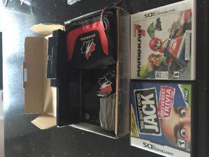 Nintendo 3Ds noir avec 12 jeux