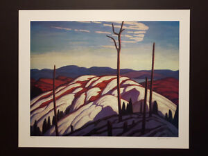 """Limited Edition """"First Snow Lake Superior"""" by Lawren Harris London Ontario image 5"""
