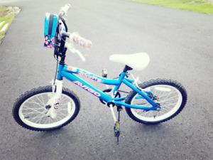 "Girl bike - 18"" wheels with free helmet"