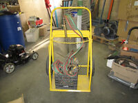 Acetylene cart with welding and cutting torches