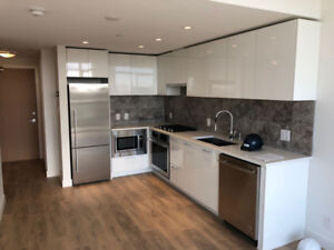 New condo at River District with Flex & HUGE balcony available f