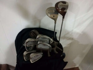 Maxfli, Club bag and Mizuno, Zoid Sure irons, Rain Cover