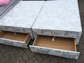 Quality double divan bed base with drawers-Free delivery