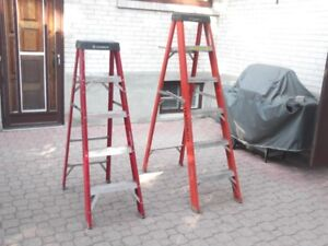 Feather Light 6FT and 5FT step ladder