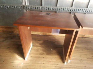 """Cherry laminate 40""""H standing tables / desks (2 available)"""