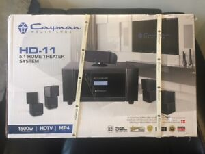 Home Theater System c/w Projector and Screen