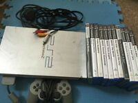 Kids Silver PlayStation 2 bundle joblot ps2 controller games
