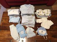 Bundle of newborn baby boy cloths