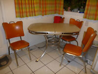 Retro kitchen table and  4 chairs for sale