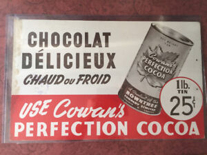 Cowan's perfection cocoa advertising sign