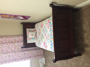 Solid Wood Twin XL/Twin Long Bed