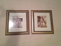 Set of 2 Pictures in High End Picture Frames