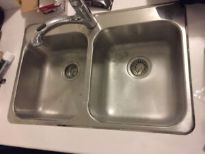 CounterTop with Double-Bowl Sink