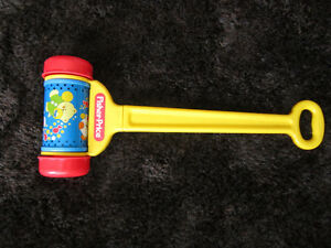 vintage fisher price musical push/pull toy 1992