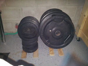 Olympic Bar & Olympic Weights Plates