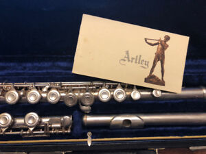 Silver Artley Flute with certificate and case