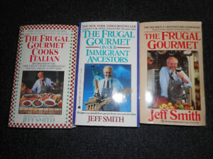 3 Frugal Gourmet cook books