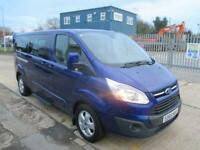 2015 Ford Tourneo Custom 2.2 TDCi 300 Limited Low Roof Bus L 5dr (8 Seats, LWB)