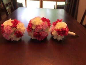Fuchsia and Pink bridal bouquets