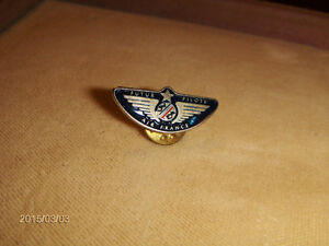 VINTAGE AIR FRANCE FUTURE PILOT PINBACK-1980S-AIRPLANES-RARE!