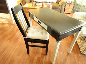 Solid Table/Desk With Drawer & Antique Chair 100.00 obo
