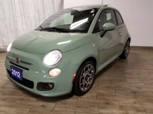 2012 Fiat 500 SPORT AUTOMATIC LEATHER SUNROOF ONLY 91KM'S!!