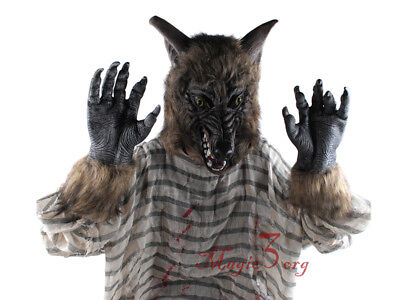 Halloween Costumes Werewolf Gloves Realistic Claws Wolf Hands Party Club Bar (Halloween Costumes Werewolf Gloves)
