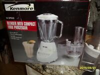 14 Speed Kenmore Compact Food Processor+Blender (like New)
