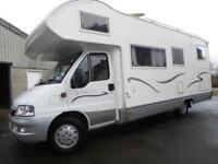 Mobilvetta Top Driver S73 6 berth rear garage coachbuilt motorhome Ref 13044