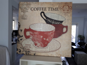 """Large Size """"Coffee Time"""" Oil Painting"""