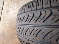 2x Yokohama Geolander 255/55-17 used jeep tyres suit RAV4 Forester