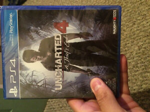 Unopened Uncharted 4 A Thiefs End PS4 Windsor Region Ontario image 1