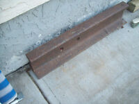 3 ft of train rail, great for use as an anvile