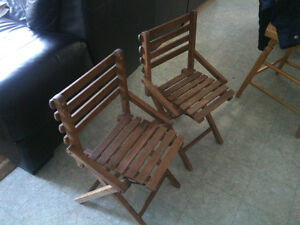 Kids vintage camp chairs