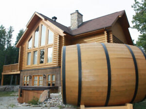 Luxury Log house for rent  Chalet a louer en bois rond de luxe