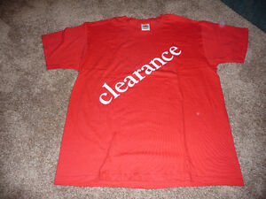 "Promotional ""Clearance"" T-Shirts for Retailers"