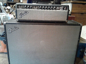 1964 fender showman blackface amp and speaker