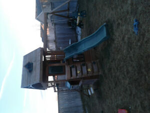 3 Year old wood play set for sale