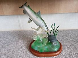 2 collectable Danbury Mint fishing ornaments