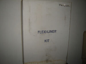 "Chimney Flex-Liner kit [7"" x 25 ft],. 10 ft ext., kit in 7""& 8"""