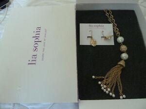 Lia Sophia, pendant necklace and earrings